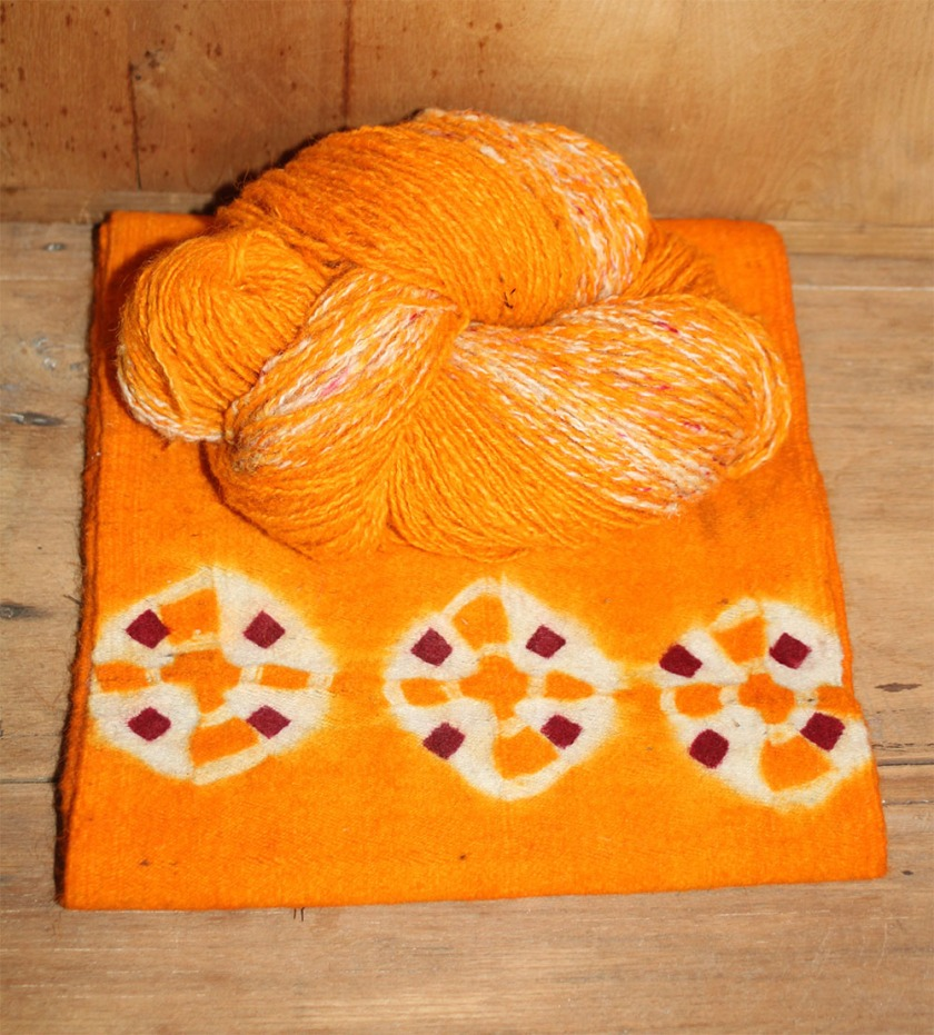saffron yarn & fabric