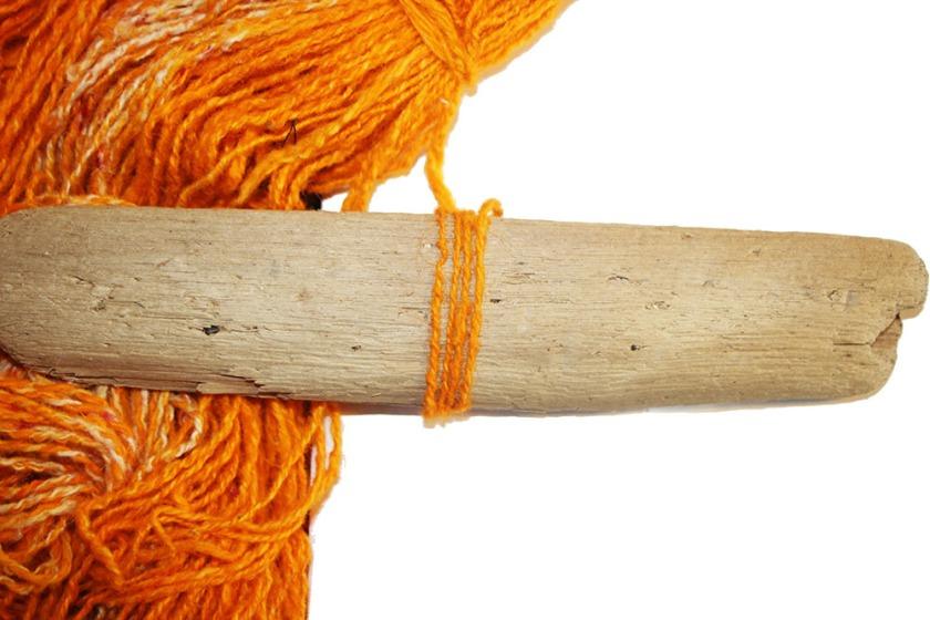 safron orange yarn