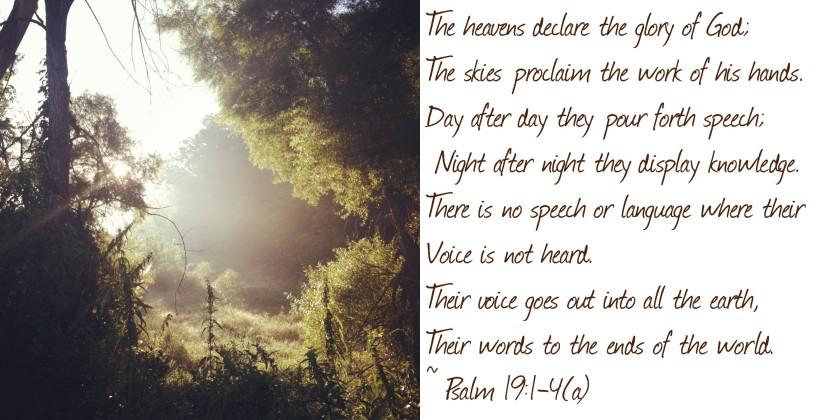 """Heavens declare"""