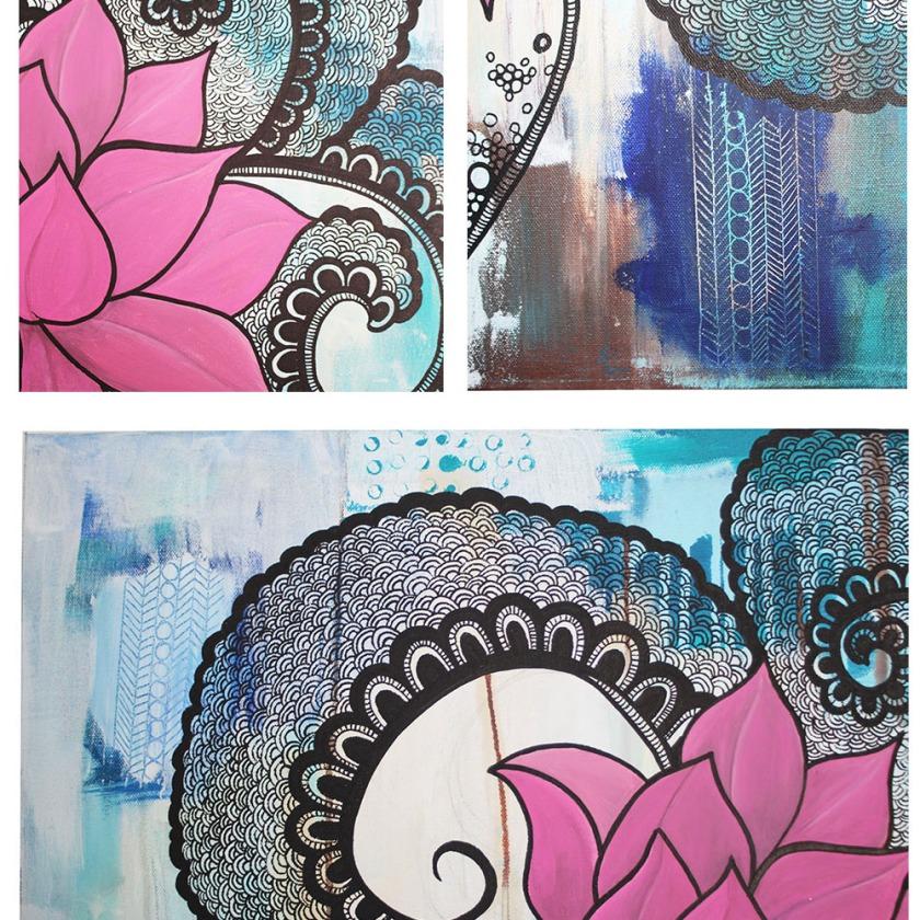 Lotus Close up  collage