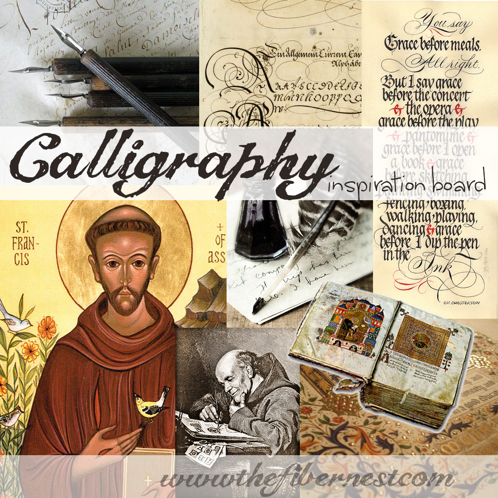 Inspiration Board: Calligraphy