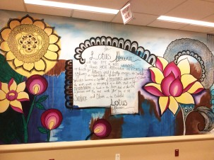 Lotus Mural; Oncology, St. Joseph Regional Medical Center