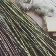 Making Nettle into yarn